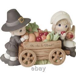 PRECIOUS MOMENT WE ARE SO BLESSED THANKSGIVING Figurine LTD 3000 NEW