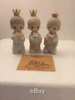 Precious Moments 11pc Miniature Nativity Scene Set Come Let Us Adore Him E-2395