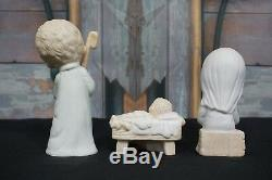 Precious Moments 1979 Come Let Us Adore Him Nativity Triangle Symbol 9 Piece