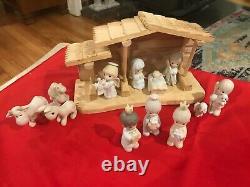 Precious Moments 1980s Nativity Set142743H, 279323H, 213624, 213616, 520268
