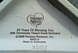 Precious Moments 20 YEARS OF BLESSING YOU 990016 LE Chapel Exclusive / Signed