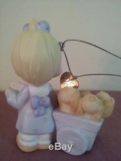 Precious Moments 3 PC- God Loveth a Cheerful Giver Figurine, Ornament and Mini
