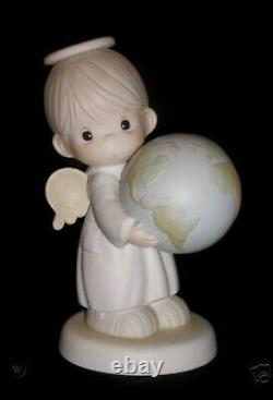 Precious Moments 9 Inch Figurine Hes Got Whole World in His Hands