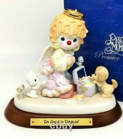 Precious Moments AN ANGEL IN DISGUISE 4001573 Angel Playing Dressing Up Clown