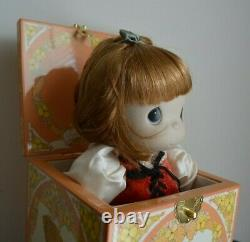 Precious Moments Autumns Praise Musical Wind Up Jack in the Box Doll 80s
