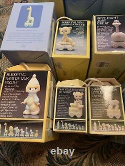 Precious Moments Birthday Train Complete Set All 18 Pieces Figurines! In box