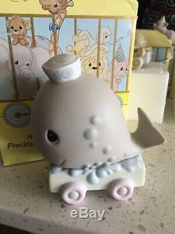 Precious Moments Birthday Train Set Baby to 12 Years Old Enesco 13 Total