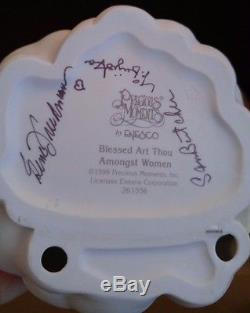 Precious Moments Blessed Art Thou Amongst Women Glass Display 261556 SIGNED