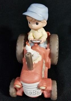 Precious Moments Bringing In The Sheaves Musical Tractor #5230 SIGNED RARE
