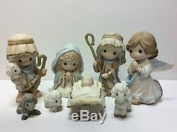 Precious Moments COME LET US ADORE HIM 8 piece nativity set 131063