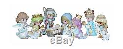 Precious Moments, Christmas Gifts, Come Let Us Adore Him, 11 Piece Set, Mini