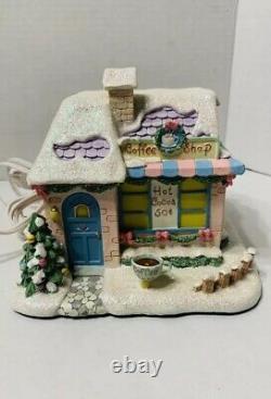 Precious Moments Christmas Hawthorne Village Cup Of Love Coffee Shop+ Light-Box