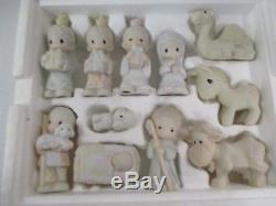 Precious Moments Christmas Nativity E-2395 Box Figures Come Let Us Adore Him(CI)