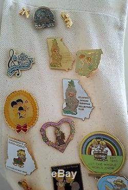 Precious Moments Collector's Club Member Pin Collection Vest Vintage Enesco Lot