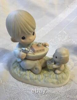 Precious Moments Collectors Club Exclusive Anniversary Figurines 4 Pcs New