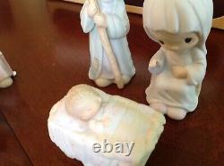 Precious Moments Come Let Us Adore Him 1979 (9) piece Nativity Set First Edition