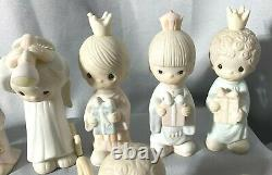 Precious Moments Come Let Us Adore Him 1979 Nativity Wee Three Kings Camel Angel