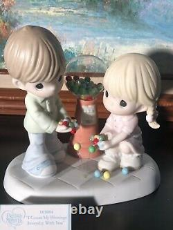 Precious Moments-Couple/Gumball Machine-I Count My Blessings Everyday With You
