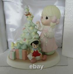 Precious Moments Disney Jiminy Pinocchio Wish Upon a Star Christmas Tree 690010
