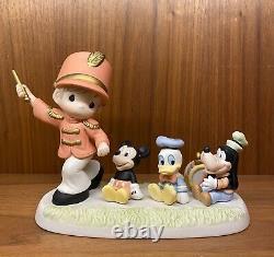 Precious Moments Disney Leader Of The Band, Mickey, Donald & Goofy BNIB