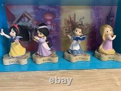 Precious Moments Disney Princess Set four Jasmine Rapunzel Snow White Belle D23
