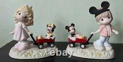 Precious Moments Disney RETIRED Mickey Minnie 2011 Wherever Road Leads