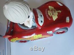 Precious Moments-Disney's Pixar Movie Cars-Lightning McQueen-Keeping It Wheel