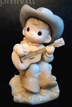Precious Moments Extremely Limited 500 Cowboy-Hand Signed X2 Home On The Range