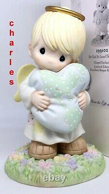 Precious Moments FOR GOD SO LOVED THE WORLD 199102 Chapel Exclusive LE 9 inch