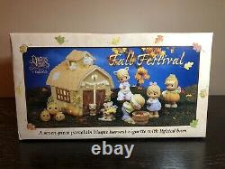 Precious Moments Fall Festival With Lighted Barn 7pc Harvest Vignette #732494