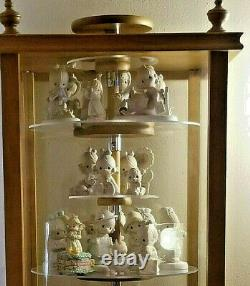 Precious Moments Figurine CABINET SHELVES ADJ & REVOLVE Child Dust Proof NEW