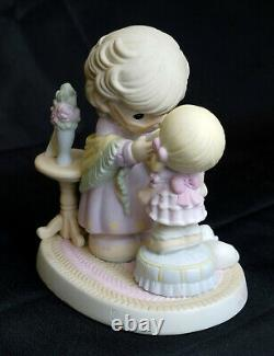Precious Moments Figurine In My Granddaughter's Eyes. Hamilton Collection