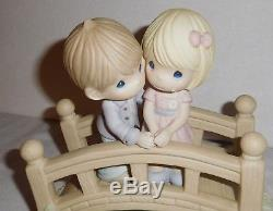 Precious Moments Figurine Our Love is the Bridge to Happiness 840030 in Box