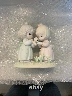 Precious Moments Figurines Lot Of 8 1979-1993. Most Early 90s. Members Only
