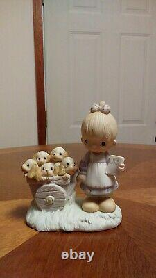 Precious Moments God Loveth A Cheerful Giver 1977 Figurine. Retired