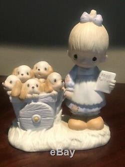 Precious Moments God Loveth A Cheerful Giver Figurine. RARE