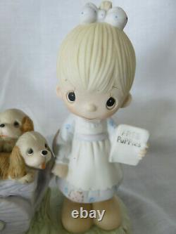 Precious Moments God Loveth A Cheerful Giver Original 21 Free Puppies