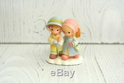 Precious Moments Hawthorne Village Accessory SHARING AND CARING 4 Pc set 91275