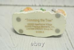 Precious Moments Hawthorne Village Accessory TRIMMING THE TREE 91228 ALL ABOARD