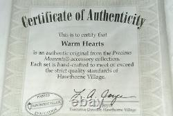 Precious Moments Hawthorne Village Accessory WARM HEARTS 4 Pc set 91227