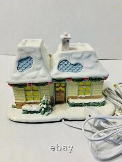 Precious Moments Hawthorne Village Lighted Heart And Sole Shoe Store Rare + COA