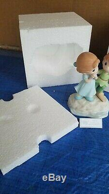Precious Moments I'M NEVER LOST WHEN I'M WITH YOU 104010 DISNEY Peter Pan NIB