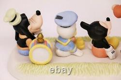 Precious Moments LEADER OF THE BAND 152005 Disney Mickey, Donald and Goofy