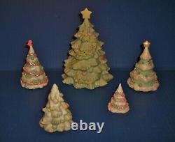 Precious Moments Lighted Christmas Trees NIB