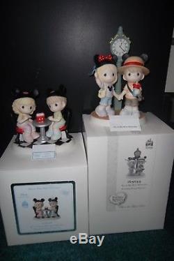 Precious Moments Lot Of 2 Disney Signed By Mastor Scupltor Hiko Maeda