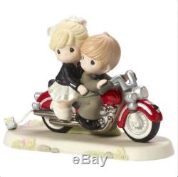 Precious Moments Motorcycle Bride Groom Together Wherever The Road May Lead