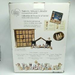 Precious Moments Nativity Advent Calendar 26-piece Set Hand Painted Figurines