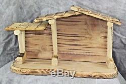 Precious Moments Nativity Come Let us Adore Him Manager Buildings 24 pieces