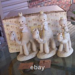 Precious Moments Nativity E-5624they Followed The Star3 Kings Camelswise Men