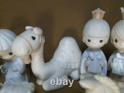 Precious Moments Nativity Figurines Base + Camel, Goat, Donkey, Wee 3 Kings